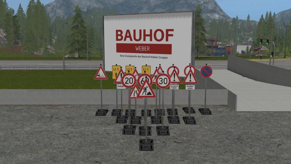Baustellen Schilder